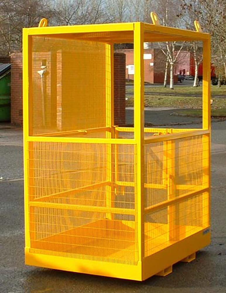 Crane Slung Safety Access Platform Cage Two Person Through Bars