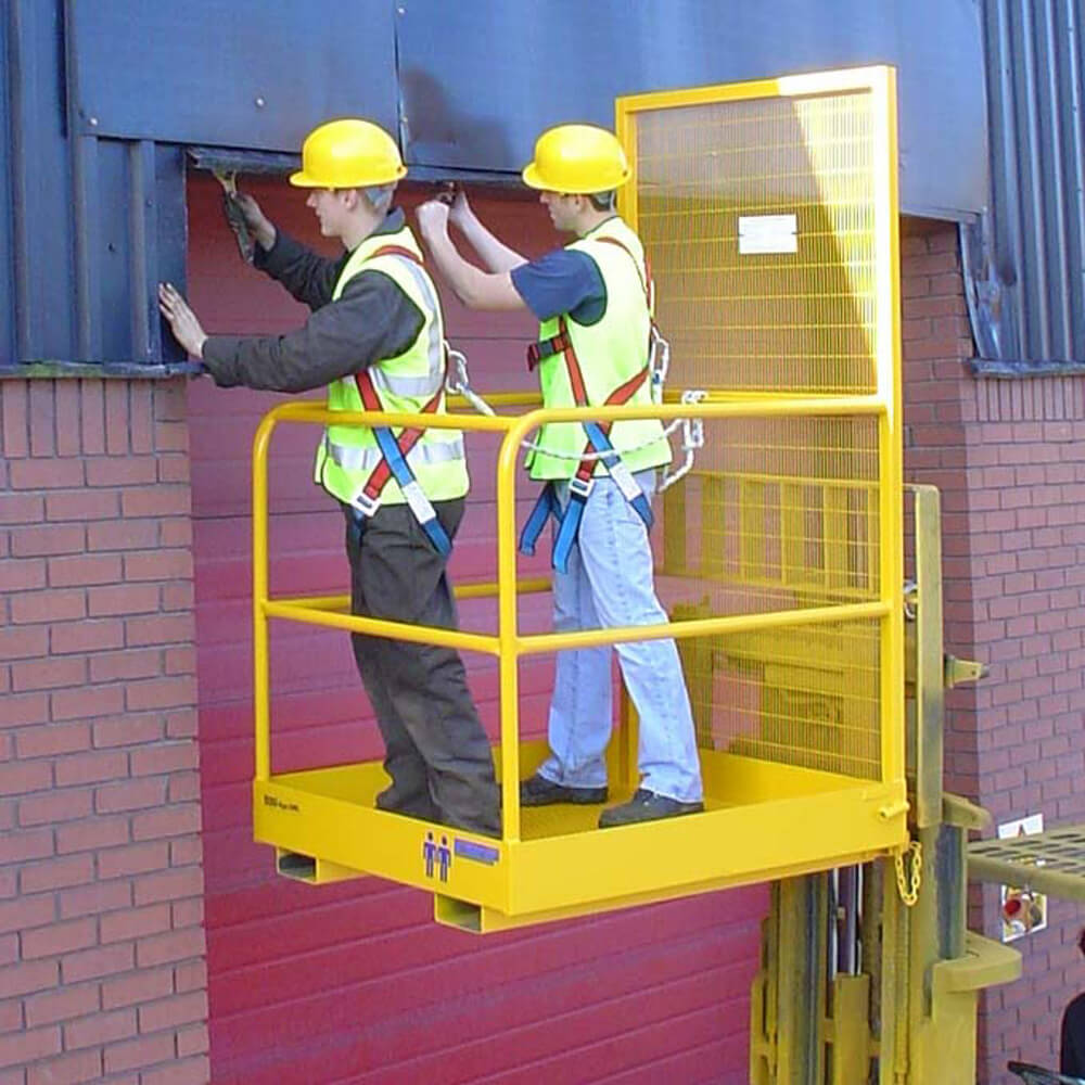 Safety Access Platform Cage Two Person Through Bars