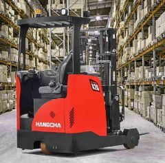 3 wheel electric reach truck forklift 1200kg - 1800kg capacity - Hangcha