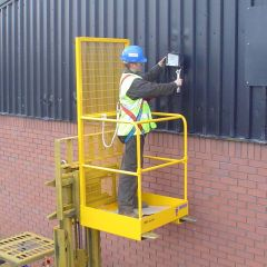 Safety Access Platform Cage Single Person Lift Up Bar